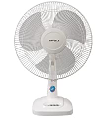 Havells Velocity Neo 400mm 55-Watt Table Fan (White)