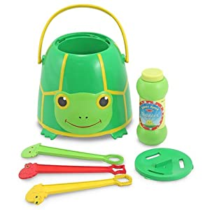 Melissa & Doug Tootle Turtle Bubble Bucket at Rs. 574 | Amazon.in Offer