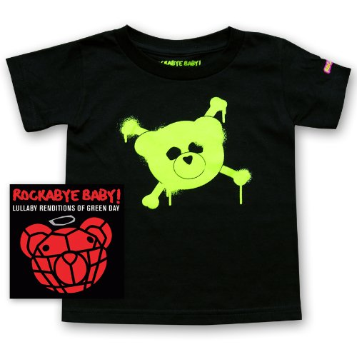 Rockabye Baby Lullaby Renditions of Green Day Rockabye Baby 100 Organic Cotton Toddler T Shirt Green
