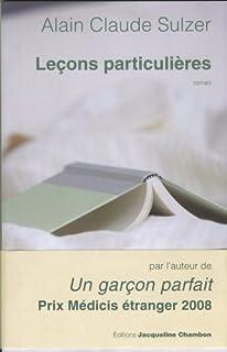 Leçons particulières : roman