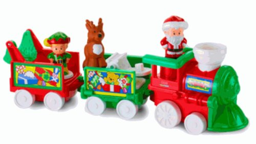 Fisher-Price Little People Musical Christmas Train 2013 back-80111