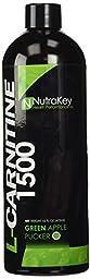 NutraKey Liquid L-Carnitine Green Apple Flavor, 16 Fl Oz