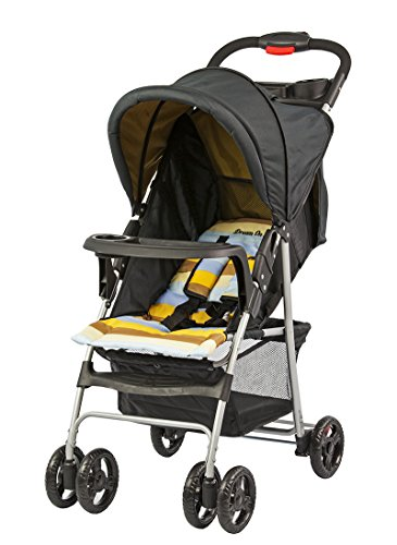 Dream On Me Feather Light Stroller, Black/Orange, Small - 1