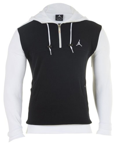 Images for Jordan Air Nike Men's Flight Half Zip Hoodie Sweatshirt Black Size XXL