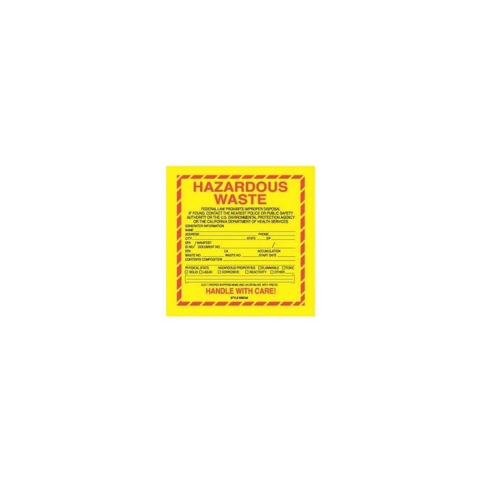 Hazardous Waste Labels (100 Labels per Package)