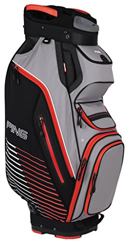 ping-pioneer-cart-bag-charcoal-red