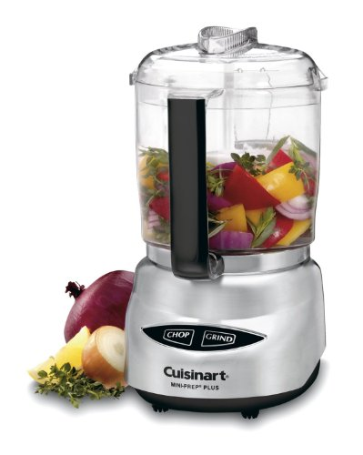 Cuisinart DLC-4CHB Mini-Prep Plus 4-Cup Food Processor - Brushed Stainless Steel (Certified Refurbished)