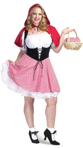 Adult Women's Plus Size Sexy Red Riding Hood Costume 3X