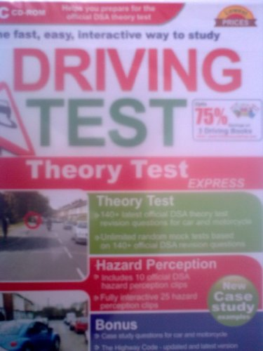 DSA driving theory test questions + hazard perception test CD - Car and motorcycle bike (PC CD-ROM) Latest edition 2010 (Includes new case style questions +  Highway Code, traffic signs, practical test information)