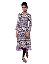 TeeMoods Womens Long Printed Kurti With Long Sleeves - B00VG8W0TY