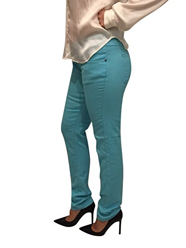 Stretch Maternity Jeans Secret Belly Band Support Pregnant Jeans Maternity Pants (Large, Blue)