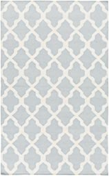 Blue Rug Contemporary Design 10-Foot x 14-Foot Hand-Made Trellis Flatwoven Carpet