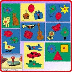 Cheap Perspective Mfg Inc Chunky Jumbo Knob Puzzles Set B — Set of 8 (B0042SUP10)