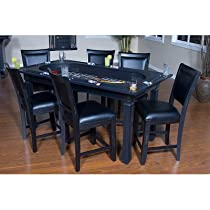 Hot Sale Burlington 7-Piece Game Table and Chairs Set in Peppercorn