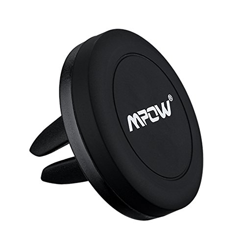 Mpow Air Vent Magnetic Car Mount, Universal Cell Phone Holder for iPhone 7/6s/6 Plus 5s 5 Samsung Galaxy S7/S6 edge S5 S4 (Iphone 6 Plus Car Vent Clip compare prices)