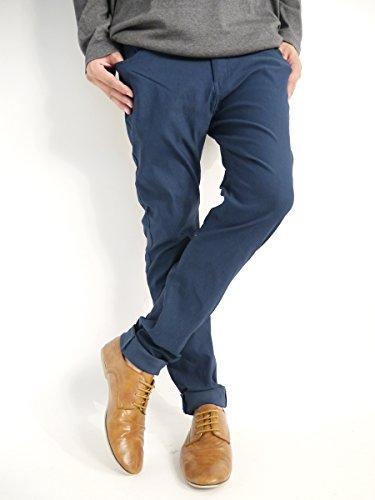 (モノマート) MONO-MART スーパーストレッチ 革命 スキニーパンツ チノパンツ ストレッチ 快適 タイト ストレスフリー 品質 パンツ 秋 冬 カラー メンズ ディープブルー Mサイズ
