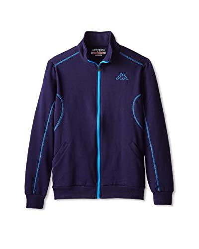 Kappa Men's Fleece Zip Up with Contrast Stitching Jacket