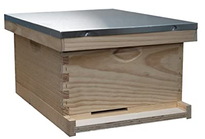 Mann Lake HK160 10-Frame Traditional Complete Hive Kit, Wood-Frames, 9-5/8-Inch
