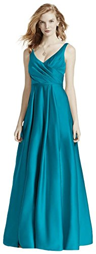 Satin Tank Long Ball Gown Bridesmaid Dress Style F15741, Oasis, 8 (Davids Bridal Long Dress Oasis compare prices)