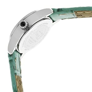 Invicta Women's 13660 Angel Green Dial Crystal Accented Green Leather Watch