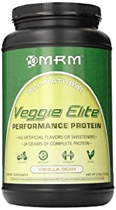 MRM Veggie Elite Dietary Supplement, Vanilla Bean, 2.2 Pound
