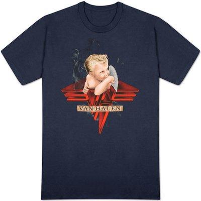 Old Glory - Van Halen - Uomo Smoking T-shirt X-Large Dark Blue