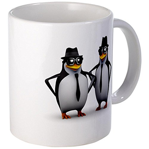 Mug (Coffee Drink Cup) Cool Penguins