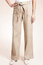 Pure Cotton Straight Leg Cargo Trousers [T54-5015-S]