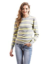 Prym Women's Cotton Striped Sweater (1011511301_Multi Color_X-Large)