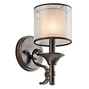 Amazon.com: Kichler Lighting 45281MIZ Lacey Light Wall Sconce