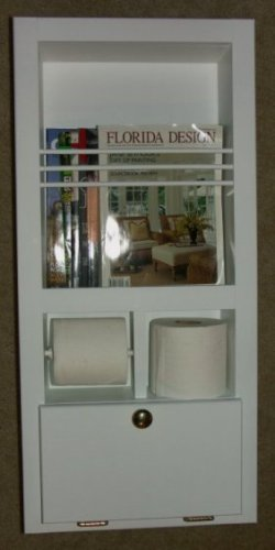 Lowest price mr 10 solid wood recessed in the wall bathroom magazine rack toilet paper for Recessed in the wall bathroom magazine rack