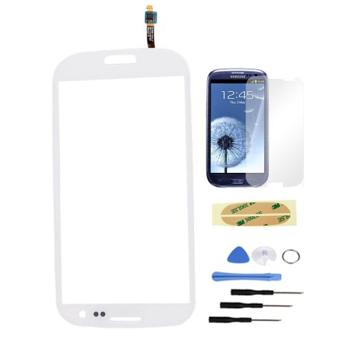 Replacement Touch Screen Digitizer For Samsung Galaxy Siii S 3 Iii I9300 White