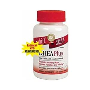 Schiff DHEA Plus Enhanced With Resveratrol 25 mg DHEA with 1 mg Resveratrol, 350 Tablets