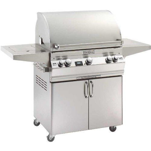 Fire Magic Aurora A660 Natural Gas Grill With Single Side Burner, One Infrared Burner And Rotisserie On Cart