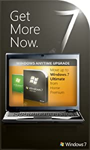 Microsoft Windows 7 Anytime Upgrade (Home Premium to Ultimate) [Online Code]