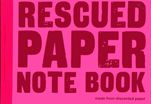 Image of Rescued paper notebook - medium - pink