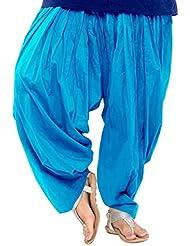 Aashish Fabrics Women Patiala Salwar, Turquoise (Free Size)