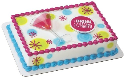 Martini Glass Cake Decorating Set