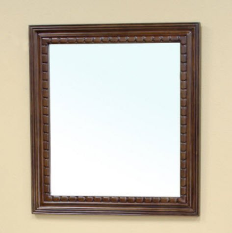 Bellaterra Home 203045-MIRROR Solid Wood Frame Mirror, Walnut