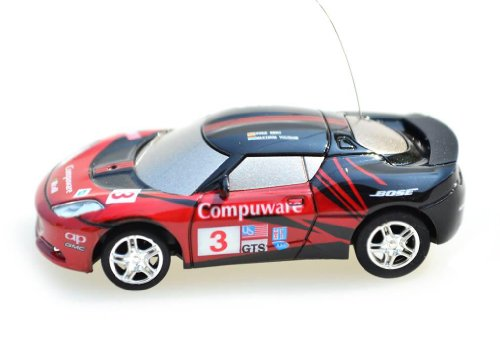 My Funky Planet Toyatar - 1:67 - RC Mini Racing Car, Black/Red