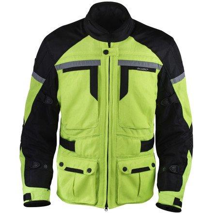 Pilot Motosport Men's TRANS.URBAN Air Jacket (Hi-Vis/Black, Medium)