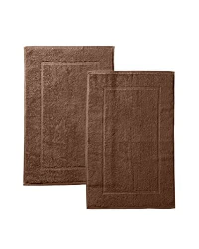 Espalma Deluxe Brights 2-Piece Tub Mat Set, Chocolate