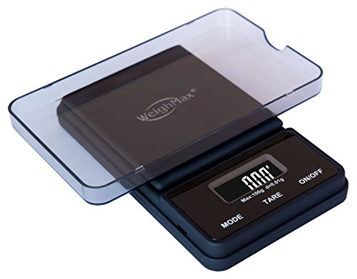 Weighmax-NJ100-BLACK-Dream-Series-Digital-Pocket-Scale-100-by-001-g-Black