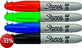Sharpie - Mini pennarelli indelebili, confezione da 4
