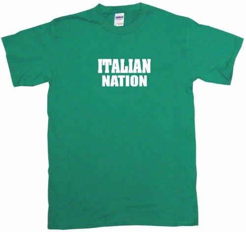 Italian Nation Men'S Tee Shirt Medium-Kelly Green