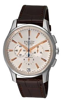 Zenith Men's 03.2110.400/01.c498 El Primero 36'000 VPH Silver Sunray Chronograph Dial Watch by Zenith