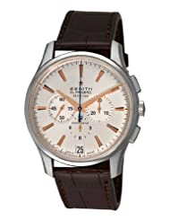 Best Price Zenith Men's 03.2110.400/01.c498 El Primero 36'000 VPH Silver Sunray Chronograph Dial Watch