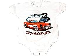 Corvette Baby Romper Bodysuit Born 2 Cruz 12MOS