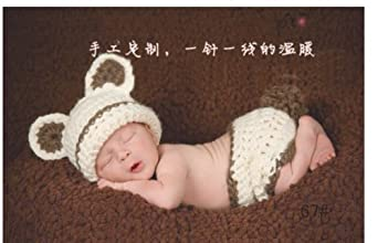 Beanie Animal Hat Cap Set Cute Baby Costume Photo Photography Prop Knit Crochet
