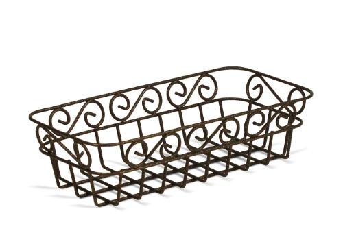 Spectrum 39126 Scroll Bread Basket, Hammered Bronze Finish